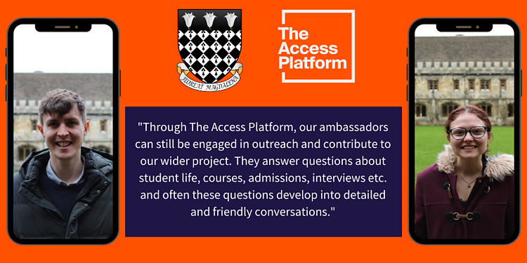 A quote about The Access Platform from Magdalen College, OXford